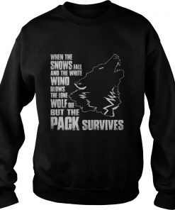 Wolf when the snows fall and the white wind blow Sweatshirt