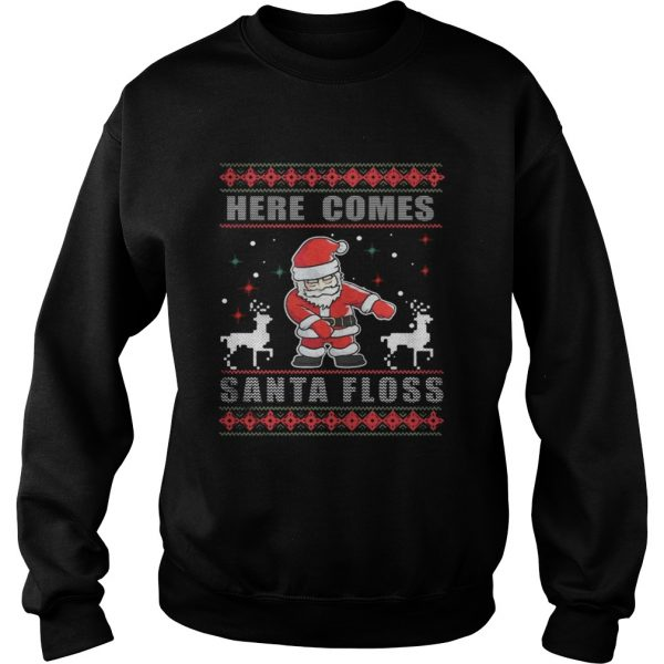 Here Comes Santa Floss Christmas Sweatshirt