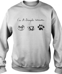 I'm a simple woman I like Jack skellington coffee and paw dog Sweatshirt