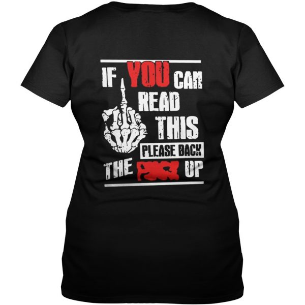 If You Can Read This Please Back The Fuck Up Vneck