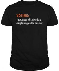 Voting 100% more effective than complaining on the Internet Guys