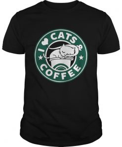 I love cats and coffee Unisex Tee