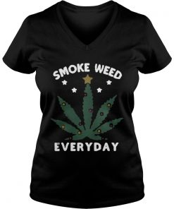 Snoop dogg smoke weed everyday christmas Vneck