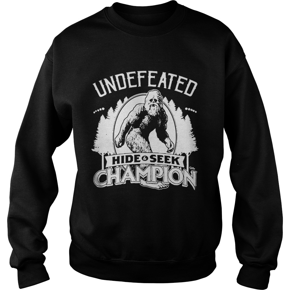 3202f4d68 Official Bigfoot undefeated hide and seek champion shirt - T Shirt ...