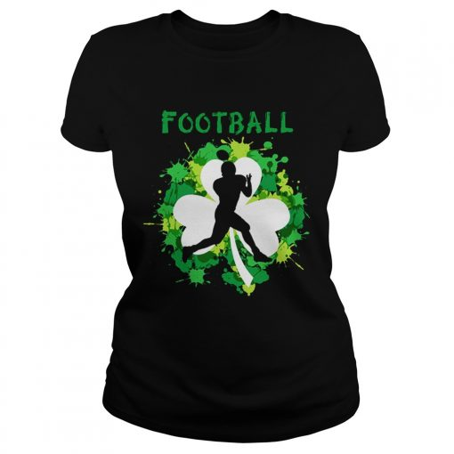Football Shamrock Irish St Patty's Day Sport Shirt For Football Lover Ladies Shirt