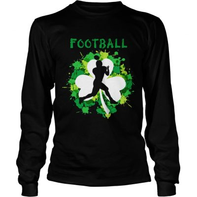 Football Shamrock Irish St Patty's Day Sport Shirt For Football Lover Longsleeve shirt