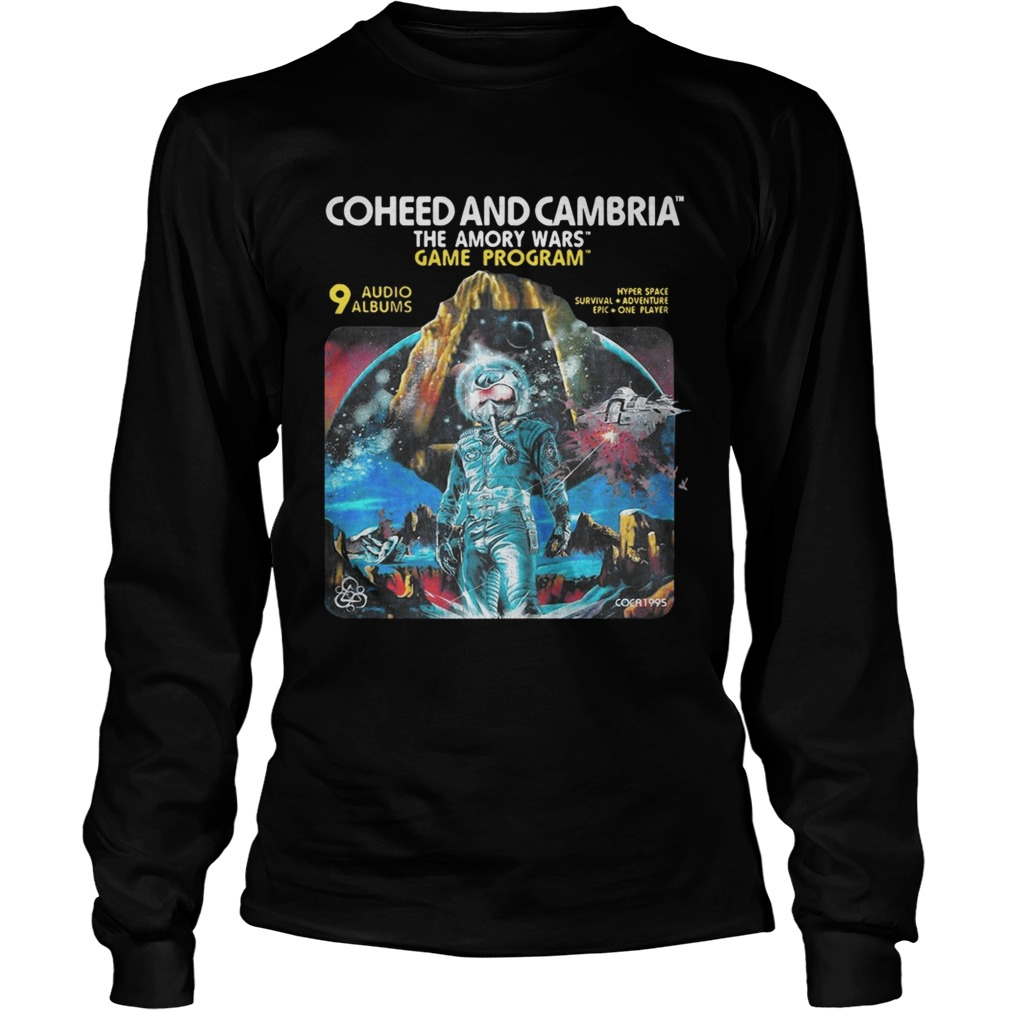 Coheed and Cambria The Amory Wars Game Program 9 audio albums tshirt