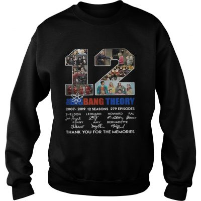 cce7d6786ed 12 years the Big Bang Theory thank you for the memories shirt - T ...