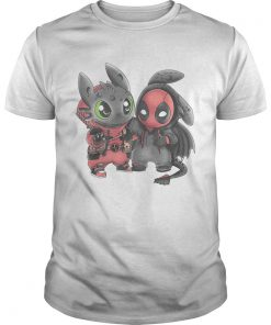 Baby Toothless and Deadpool Unisex Shirt
