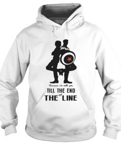 Captain America and Bucky Barnes because Im with you till the end of the line Hoodie