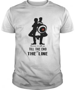 Captain America and Bucky Barnes because Im with you till the end of the line Unisex Shirt