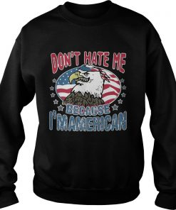 Dont Hate Me American Bald Eagle Wearing Us Flag Bandanna Sweater