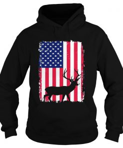 Independence Day Hunting American Flag Hoodie