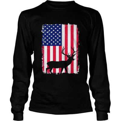 Independence Day Hunting American Flag Longsleeve Tee