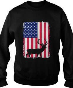 Independence Day Hunting American Flag Sweater