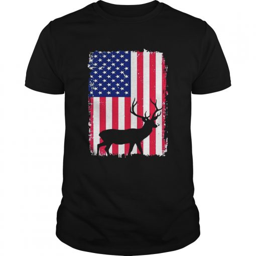 Independence Day Hunting American Flag Unisex Shirt