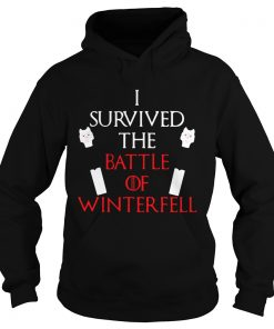 Longclaw of Jon Snow I survived the battle of Winterfell Game of Thrones Hoodie