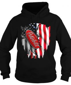 Peterbilt Motors Company inside the American flag Hoodie