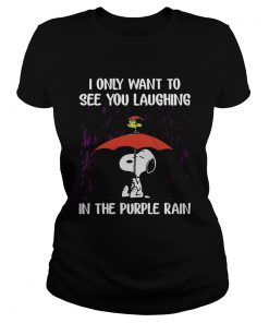 SnoopyI Only Want To See You Laughing In The Purple Rain Ladies Tee