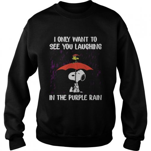SnoopyI Only Want To See You Laughing In The Purple Rain Sweater