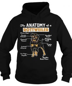 The anatomy of a Rottweiler clever mind soulful eyes snack detector Hoodie