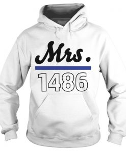 Thin blue line police Mrs 1486 Hoodie