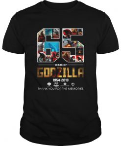 1954 2019 Godzilla 65th thank you signature  Unisex
