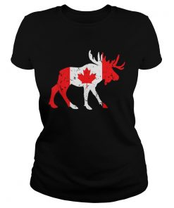 Canada Maple Leaf Animal Canadian Flag Happy Canada Day  Classic Ladies