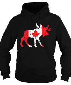 Canada Maple Leaf Animal Canadian Flag Happy Canada Day  Hoodie