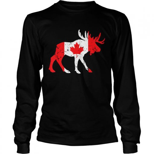 Canada Maple Leaf Animal Canadian Flag Happy Canada Day  LongSleeve