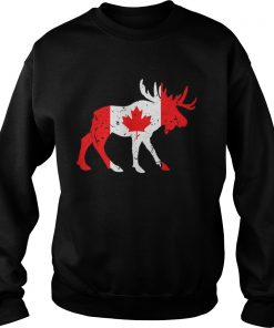 Canada Maple Leaf Animal Canadian Flag Happy Canada Day  Sweatshirt
