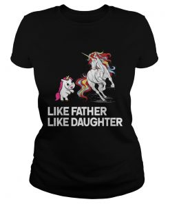 Dad Unicorn Father Daughter Fathers Day  Classic Ladies