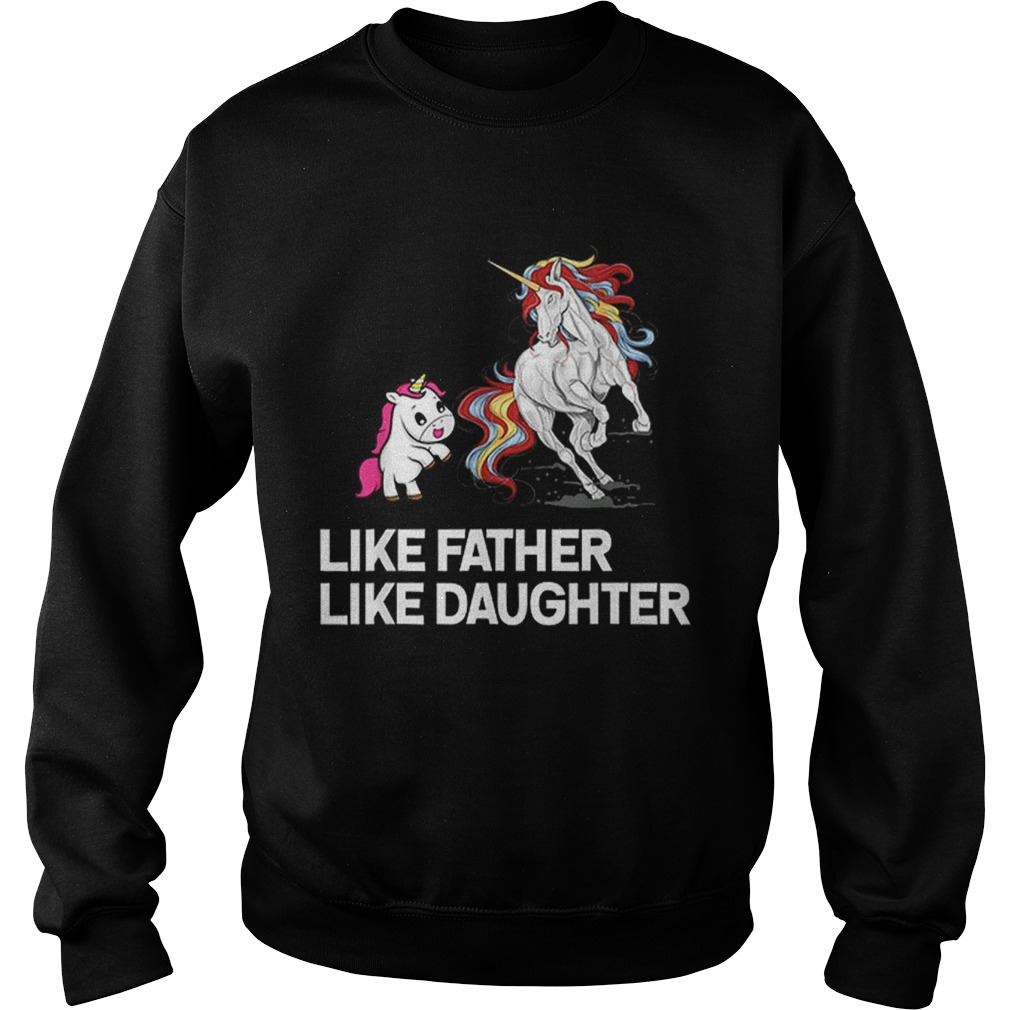 Dad Unicorn Father Daughter Fathers Day Sweatshirt