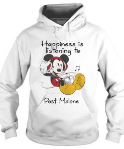 Happiness Is Listening To Post Malone Mickey TShirt Hoodie