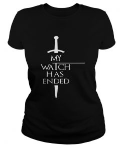 Trends Funny My Watch Has Ended Men T Classic Ladies