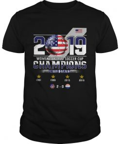 2019 Womens World Soccer Cup Champions United States  Unisex