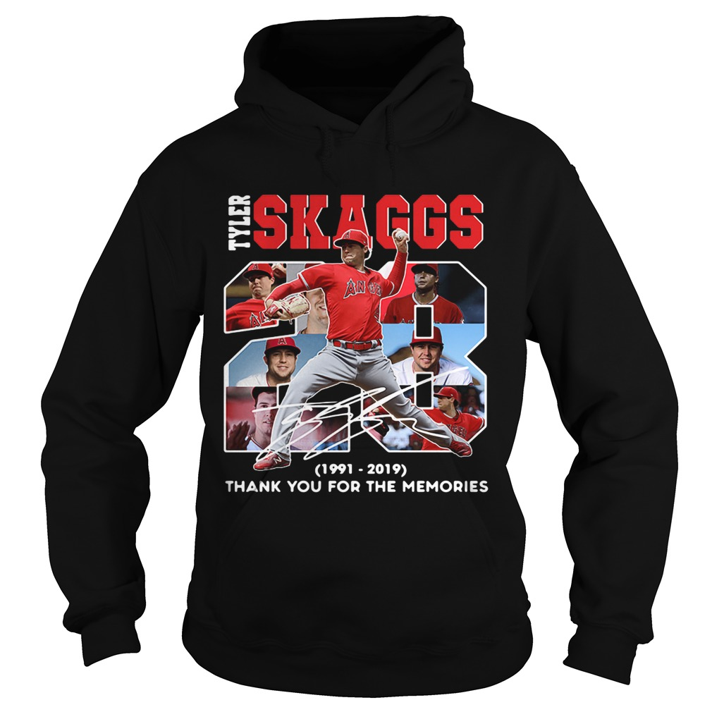28 Years Tyler Skaggs 1991 2019 thank you for the memories Hoodie