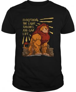 Everything the light touches you can lift Mufasa Gymer  Unisex