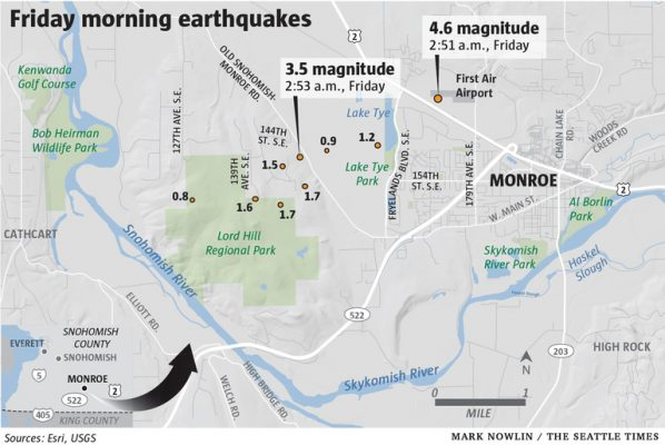 4.6 earthquake shakes Seattle region no damage reported