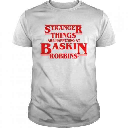 Official Stranger Things are happening at Baskin robbins  Unisex