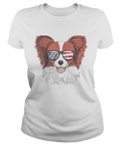 Papillon Dog Patriotic Usa 4th Of July American  Classic Ladies