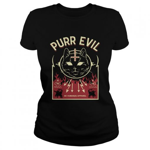 Purr Evil Satanic Cat case  Classic Ladies