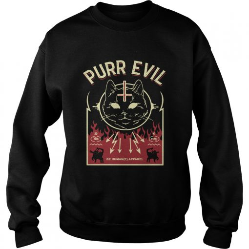 Purr Evil Satanic Cat case  Sweatshirt