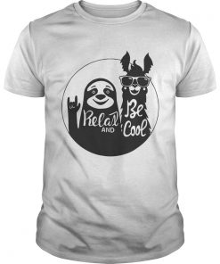 Sloth And Groove Kuzco Llama Relax And Be Cool Shirt Unisex