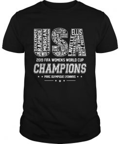 USA Womens World Cup Champions 2019 Team Name TShirt Unisex