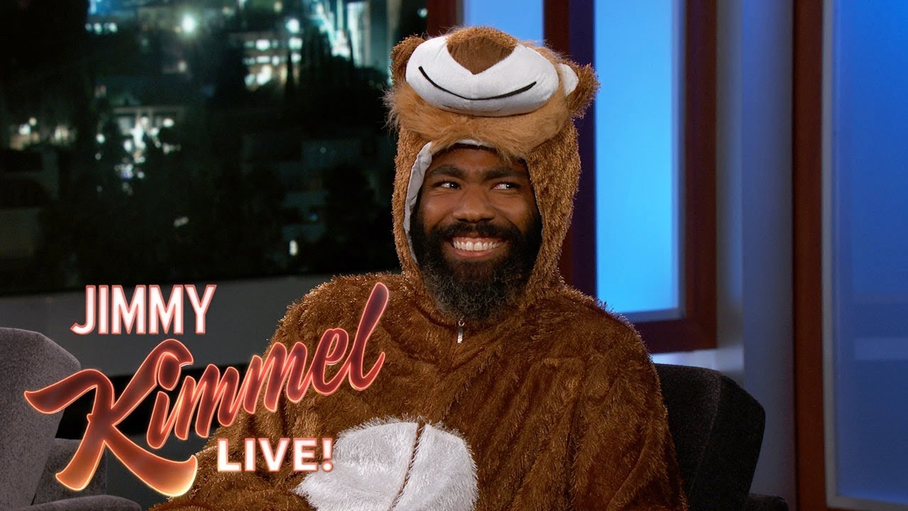Donald Glover showed up to 'Jimmy Kimmel Live' in a lion suit and talked all about Beyoncé