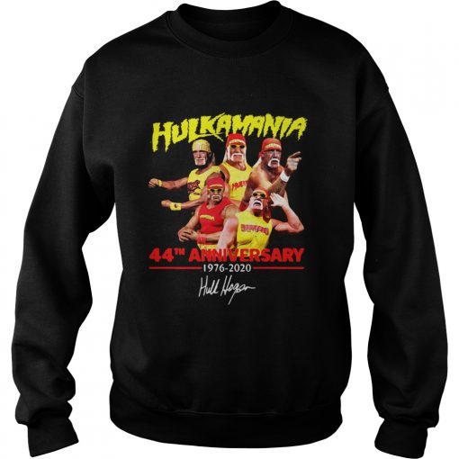 Hulkamania 44th Anniversary 19762020 Signature  Sweatshirt