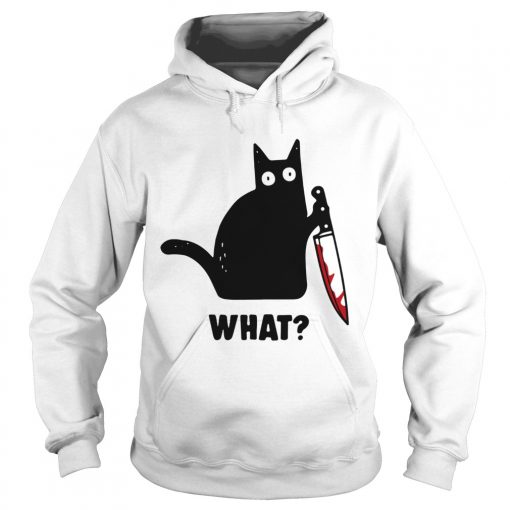 What Black cat hold knife  Hoodie