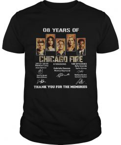 08 Years of Chicago Fire thank you for the memories signature  Unisex