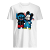 Baby Stitch and Mickey mouse  Classic Men's T-shirt